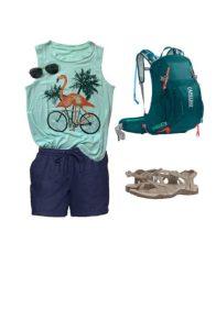 Cute summer travel outfit #summer #capsulewardrobe