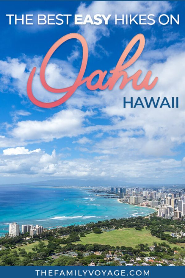 If you're looking for fun things to do on Oahu, check out one of these great easy hikes! They're all manageable if you're visiting Hawaii with kids or others who aren't up for a full-day trek. You'll find some of the most iconic Hawaii hikes. #Oahu #Hawaii #travel #familytravel #hiking #hikes