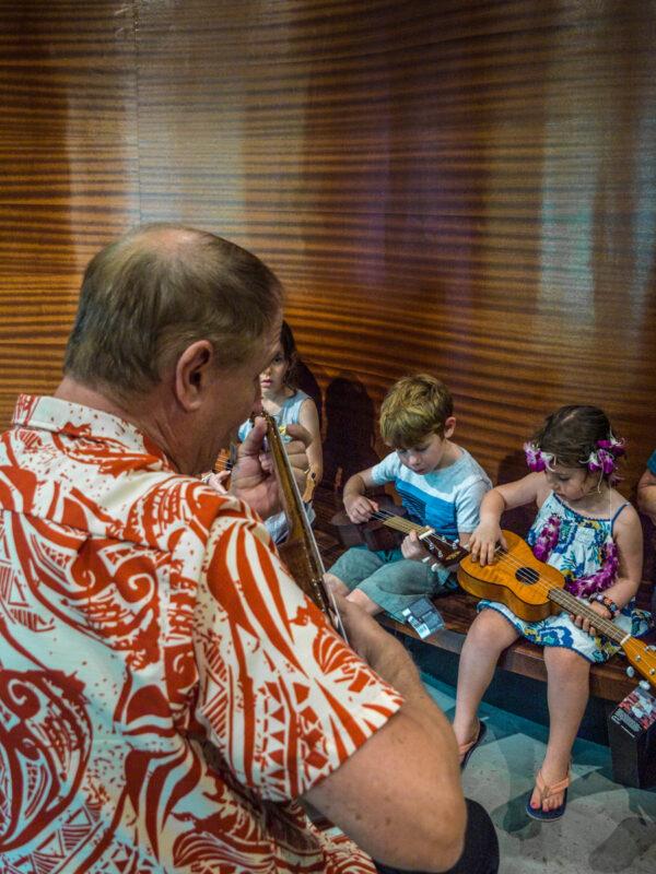 ukelele lesson in Hawaii