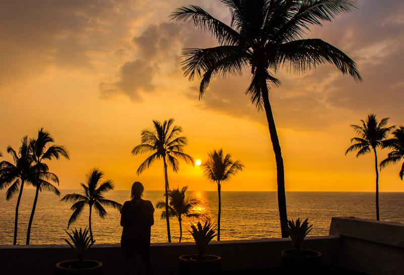 Sunset at Sheraton Kona, Big Island, Hawaii