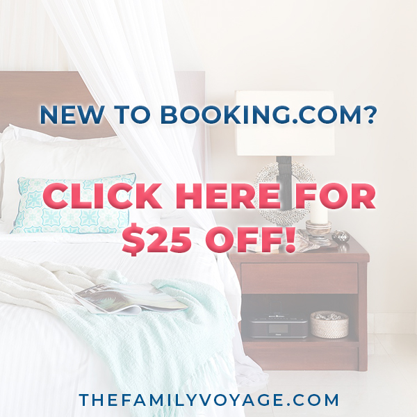 Are you new to booking.com? Sign up here to get $25 off your first reservation, then come back to read more awesome tips for how to save money on hotel reservations to make budget travel a reality. One of our favorite frugal living ideas!