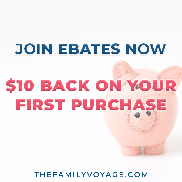 Join Ebates now to get your $10 bonus after your first purchase! Save money on amazon, booking.com and so many more merchants. Ebates is a great money-saving hack and one of the best frugal living tips!
