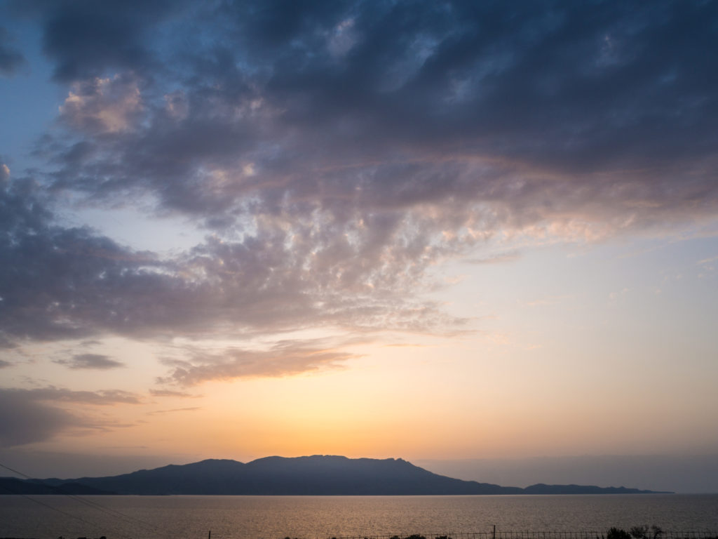 Sunset on Crete - Greece family holidays