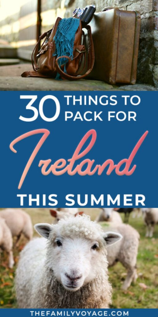 Traveling to Ireland this summer? Check our our ultimate Ireland packing list for summer to lighten your load whether your visiting Dublin, Kerry or other beautiful areas. Our travel capsule wardrobe for Ireland has you covered for city exploring and romping around outdoors! What to pack for Ireland in June | Ireland travel capsule wardrobe for summer trip to Europe #Ireland #travel #packinglist #capsulewardrobe