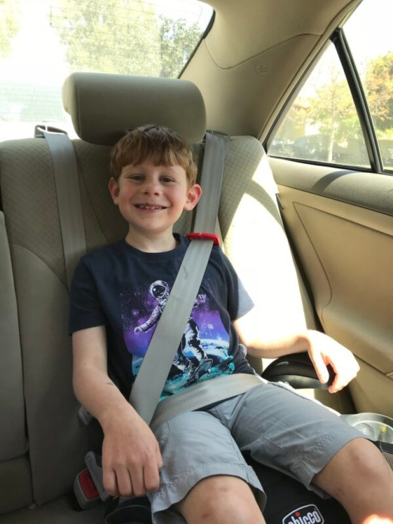 The Chicco GoFit (or GoFit Plus) is the best backless booster seat for a comfortable ride