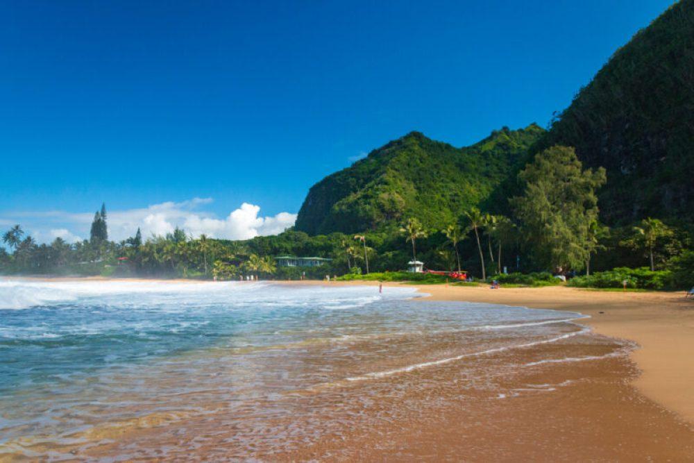 Haena Beach Park on the Hawaiian island of Kauai, USA