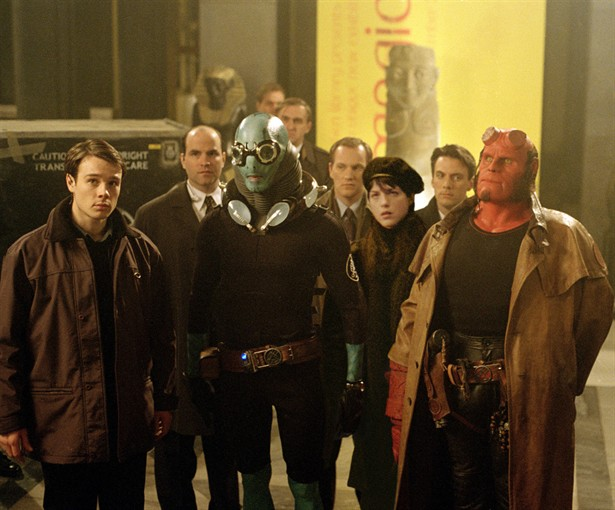 Doug Jones,Ron Perlman,Rupert Evans,Selma Blair