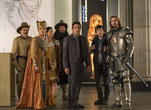 Ben Stiller,Dan Stevens,Rami Malek,Robin Williams