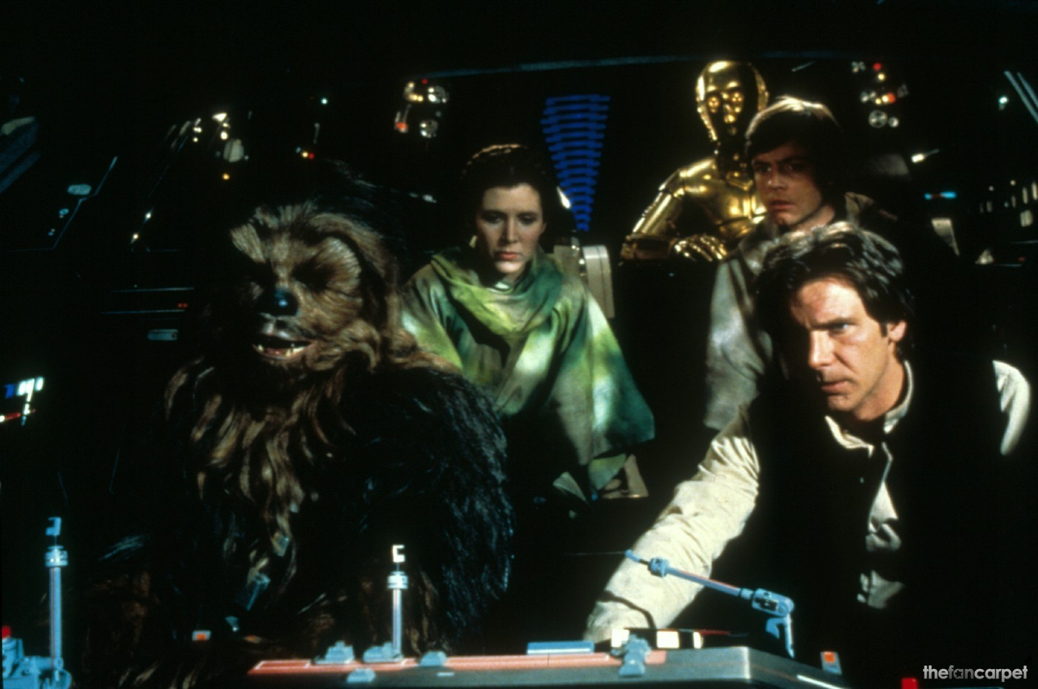 Anthony Daniels,Carrie Fisher,Harrison Ford,Mark Hamill,Peter Mayhew