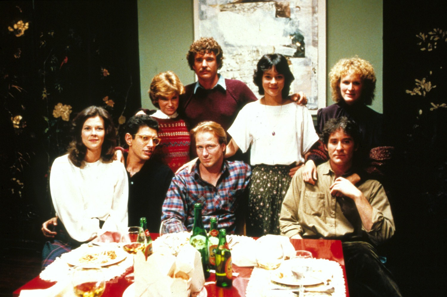 Glenn Close,Jeff Goldblum,JoBeth Williams,Kevin Kline,Mary Kay Place,Meg Tilly,Tom Berenger,William Hurt