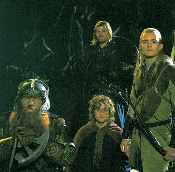 Billy Boyd,John Rhys-Davies,Orlando Bloom,Sean Bean