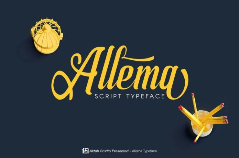 Best Selling Gorgeous Fonts Allema1