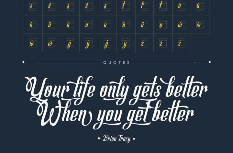 Best Selling Gorgeous Fonts Allema7