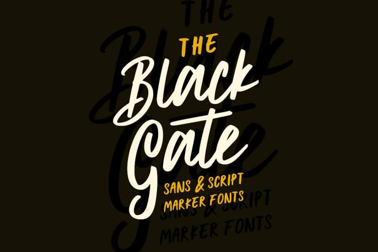 Best Selling Gorgeous Fonts Black-Gate1
