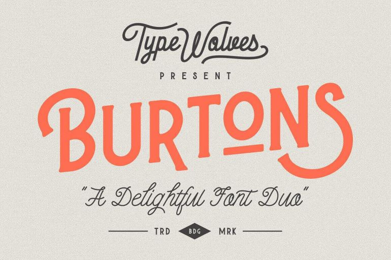 Best Selling Gorgeous Fonts Burtons1