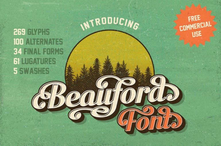 Best Selling Gorgeous Fonts beauford1-1
