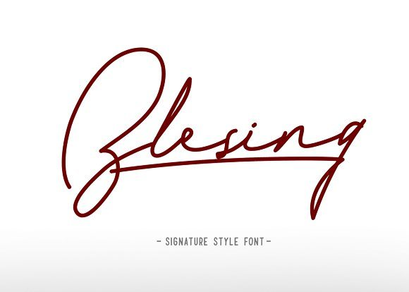 Best Selling Gorgeous Fonts blesing-cover-1