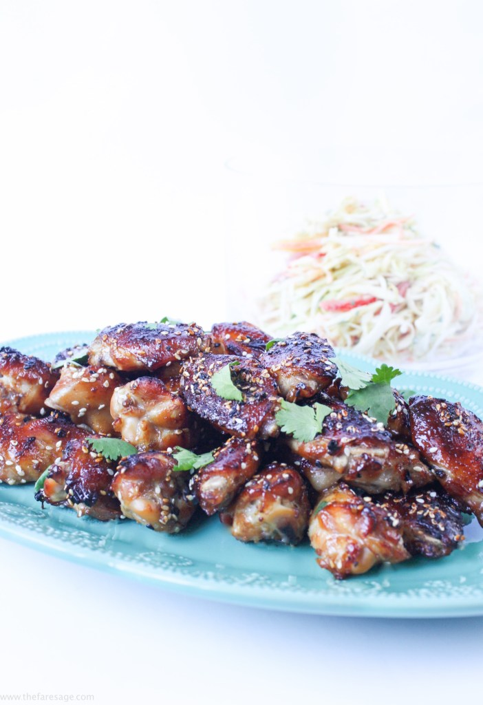 Sticky Ginger Teriyaki Chicken Nibbles | The Fare Sage