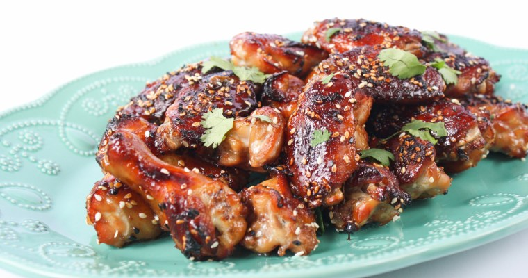 Sticky ginger teriyaki chicken nibbles