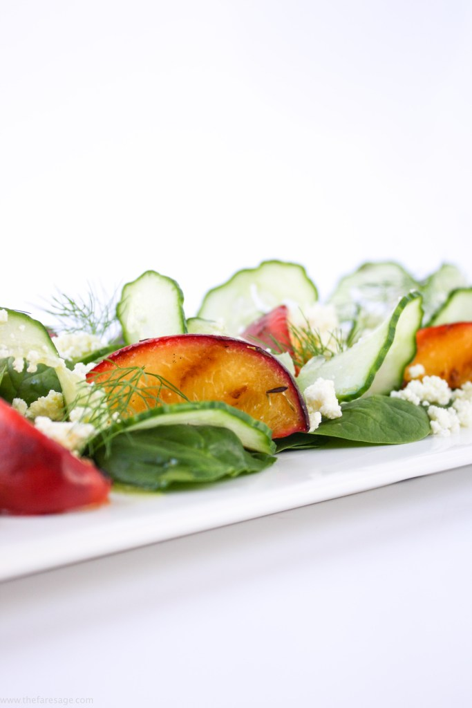 Grilled peach, ricotta and fennel salad | The Fare Sage