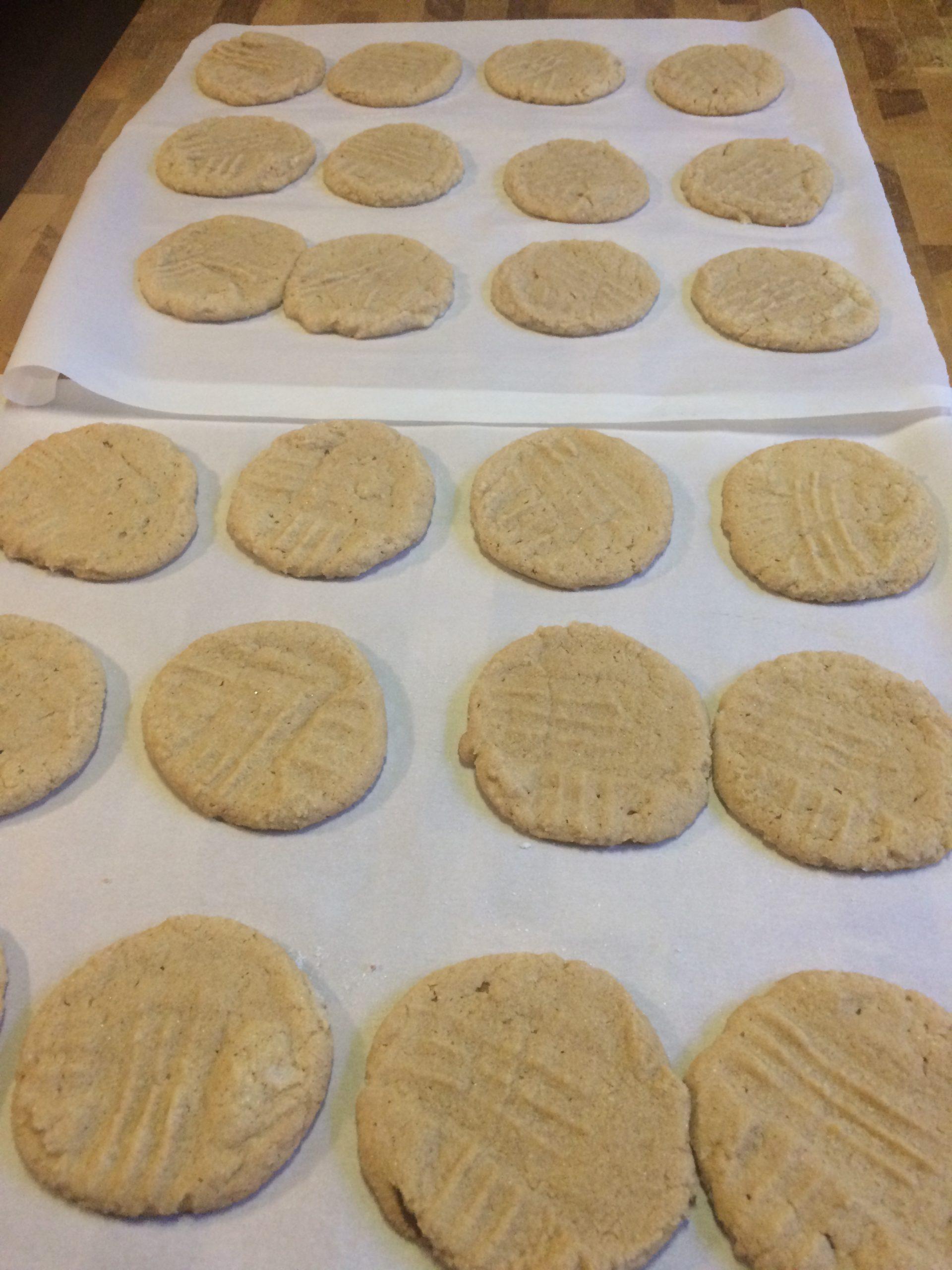 Super Simple GF Peanut Butter Cookies