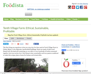 Tenth Village Farm is Ethical, Sustainable, Profitable