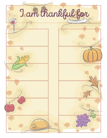 Gratitude Jar Printable