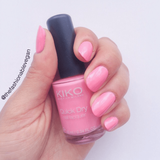 [Baby Pink quick dry nail polish by kiko cosmetics]