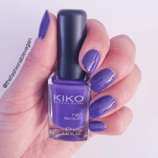 [brilliant violet nail polish by kiko cosmetics]