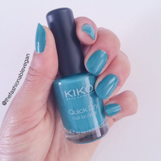 [Sea green nail polish by Kiko cosmetics]