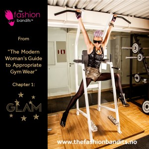 The Fashion Bandits Benedikte St.Pierre all glammed up at the gym