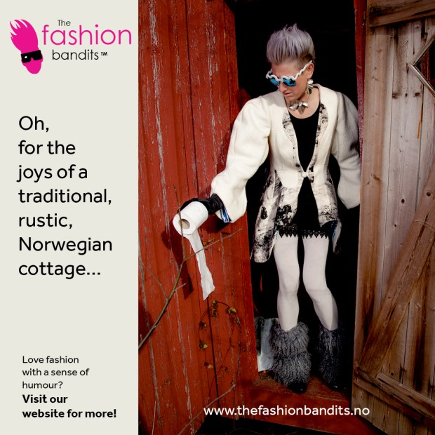 The Fashion Bandits ' Benedikte St.Pierre is not enjoying the mod cons of a traditional Norwegian cottage...