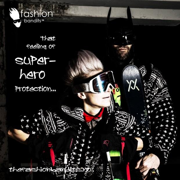 The Fashion Bandits Benedikte St.Pierre is protected by Batman Bandit