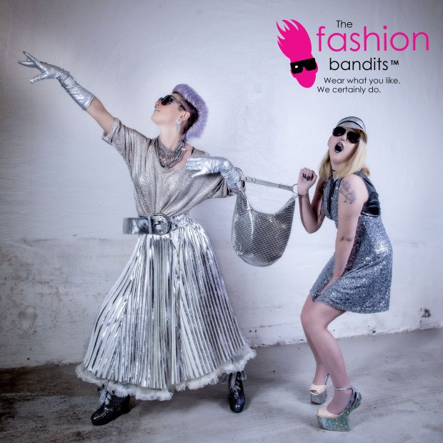 The Fashion Bandits going for a very silvery walk
