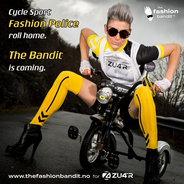 The Fashion Bandit Benedikte St.Pierre is starting a new fashion trend in cycling - on a tricycle.