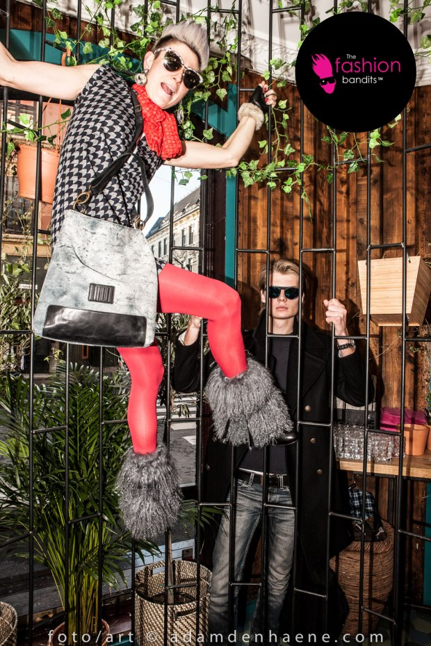 The Fashion Bandits Benedikte St.Pierre & Nicholas Sørensen are climbing cages...