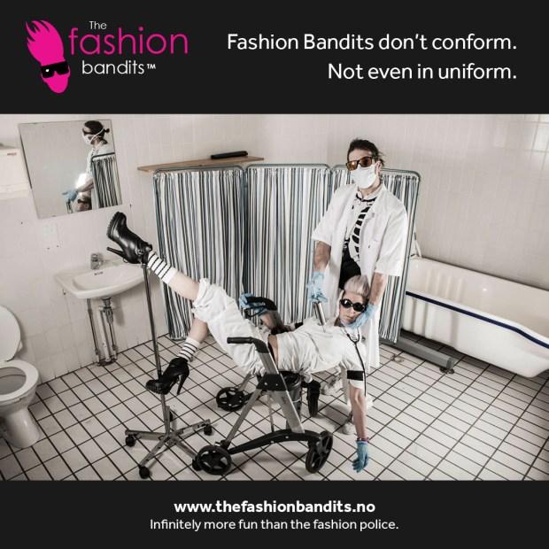 The Fashion Bandits Benedikte St.Pierre and Sindre Solvin refuse to conform even in uniform