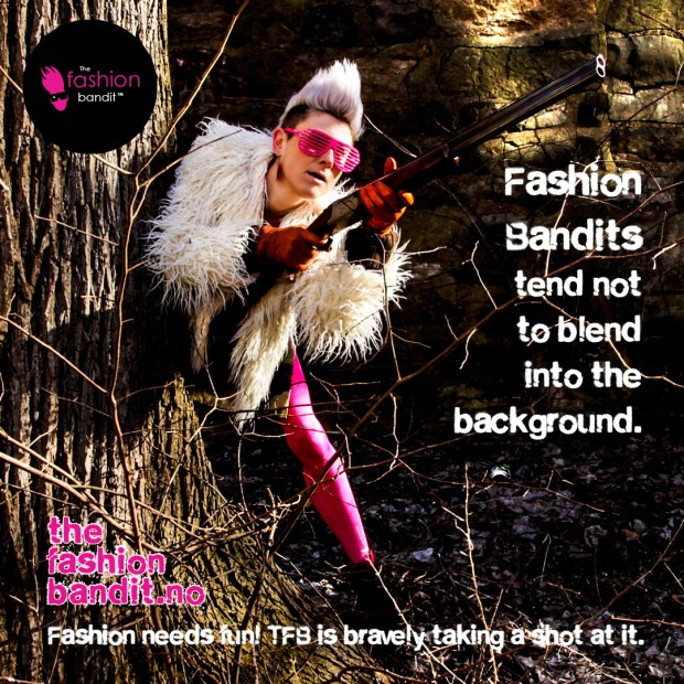 The Fashion Bandit Benedikte St.Pierre is out hunting - but certainly not blending into the background!