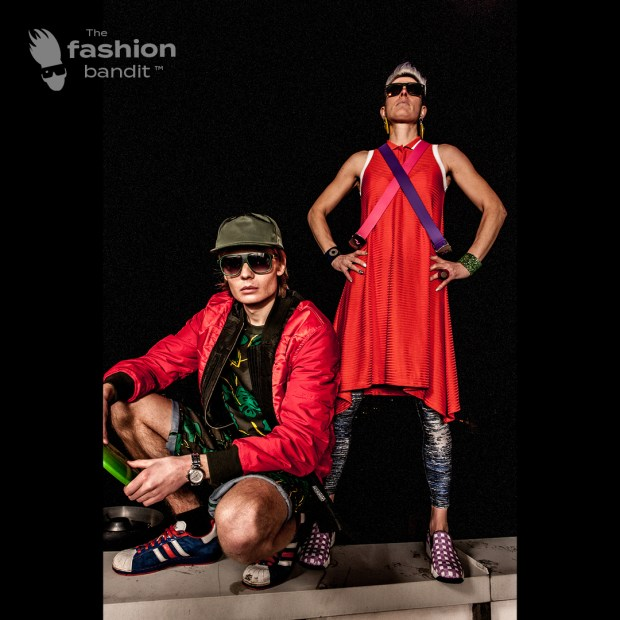 The Fashion Bandit Benedikte St.Pierre and Model Bandit Nicholas Strand are looking fierce.