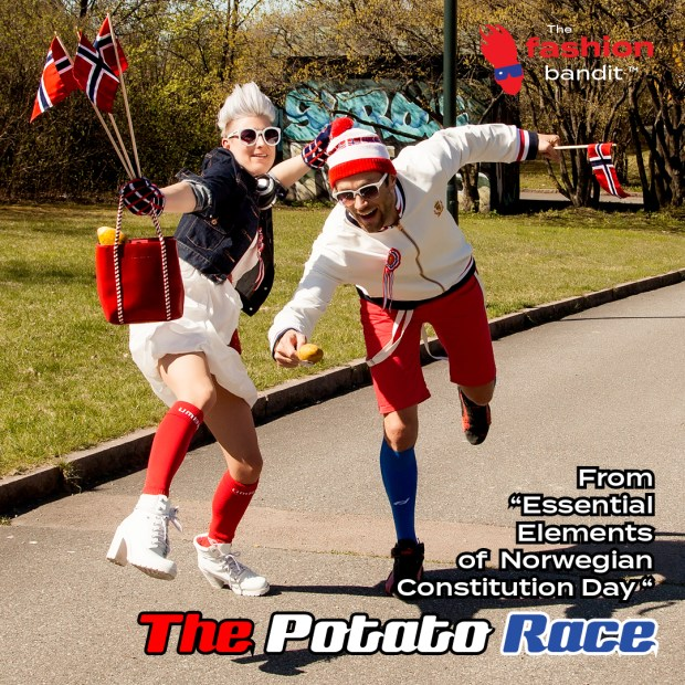 The Fashion Bandit Benedikte St.Pierre and The Flying bandit Alf-Ole Føre are in a fierce potato race for May 17th