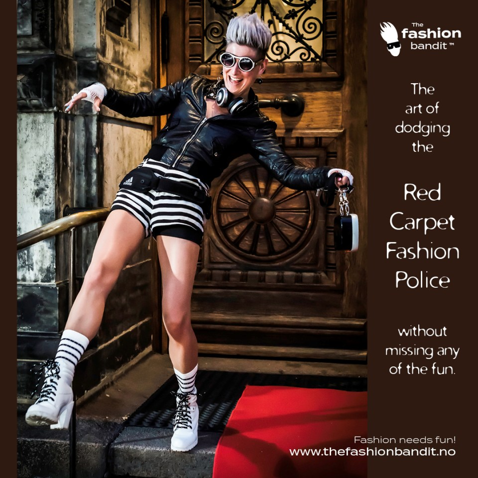 The Fashion Bandit Benedikte St.Pierre is having fun at the red carpet