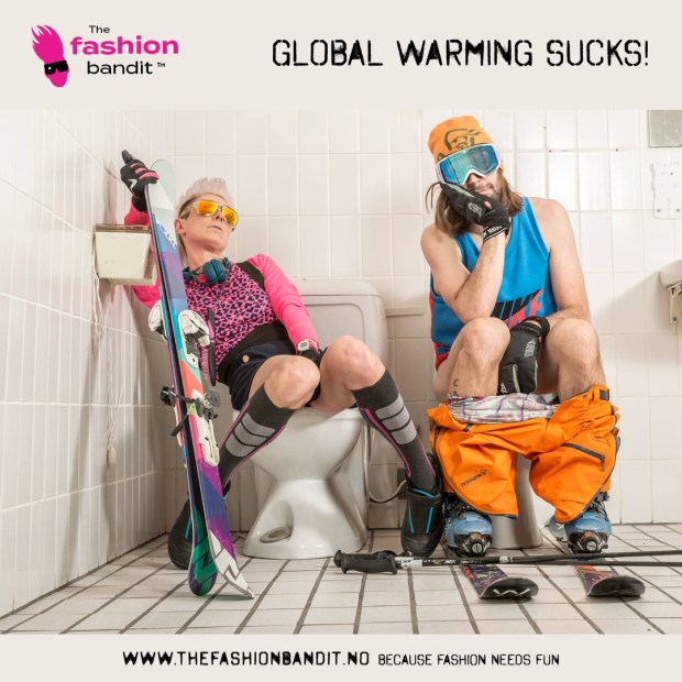 The Fashion Bandit Benedikte St.Pierre and Sindre Solvin are waiting for snow...