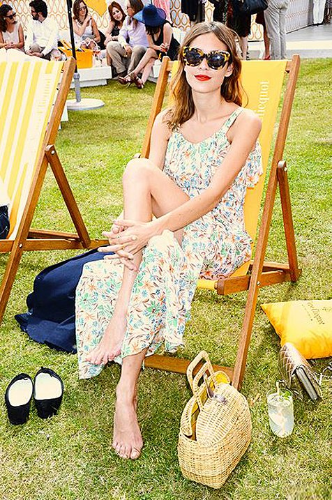 Alexa Chung Wears Northern Lights Sunglasses In Crazy Tort