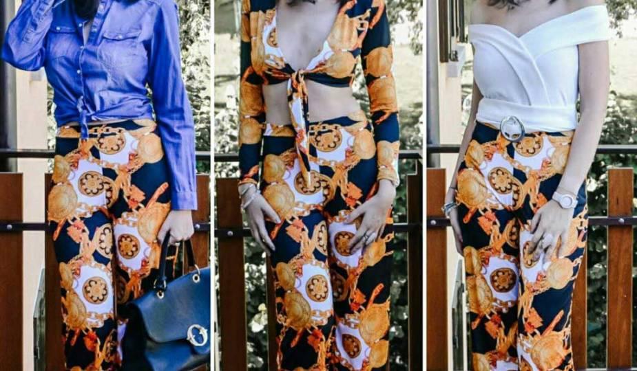 Come indossare i pantaloni palazzo in estate - tre outfit donna - The Fashion Cherry Diary