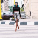 What I Wore: Crop Top X Snakeskin Wrap Skirt
