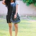 What I Wore: Slip Dress X 313 Eko Fur Slides