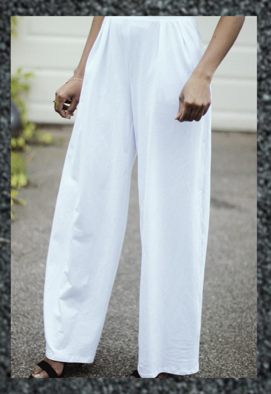 rebdolls white wide leg pants