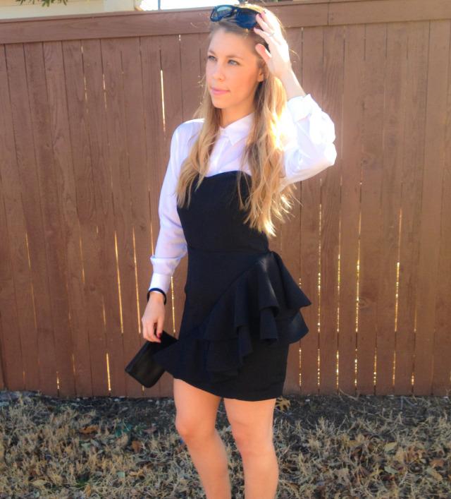 H&M Black Dress Burlington Blouse
