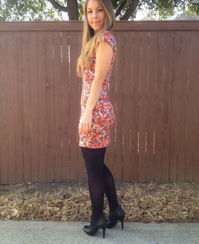 Zara Dress Tights BCBG Booties