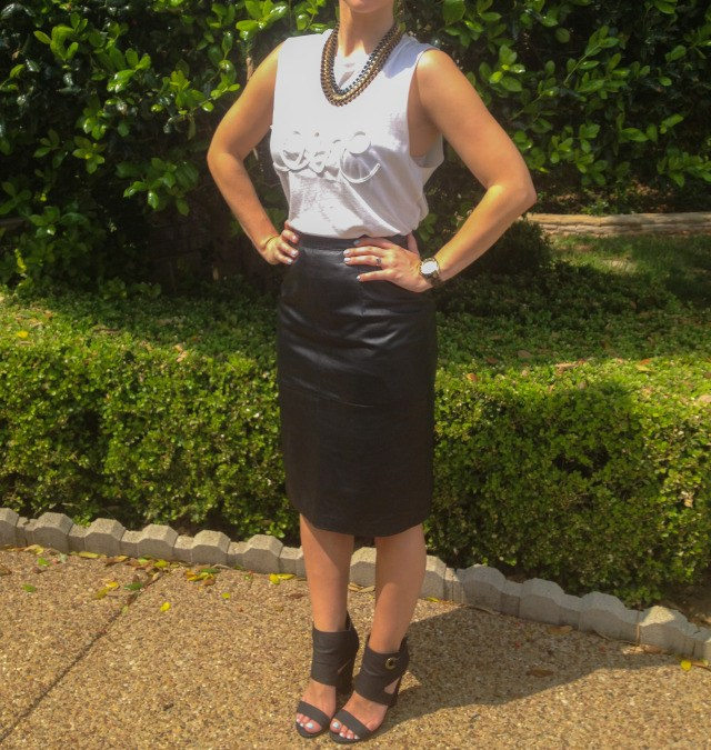 Macys Love Top Neiman Marcus Pencil Skirt DSW Heels